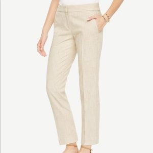 Ann Taylor like new tan textured ankle pants 6